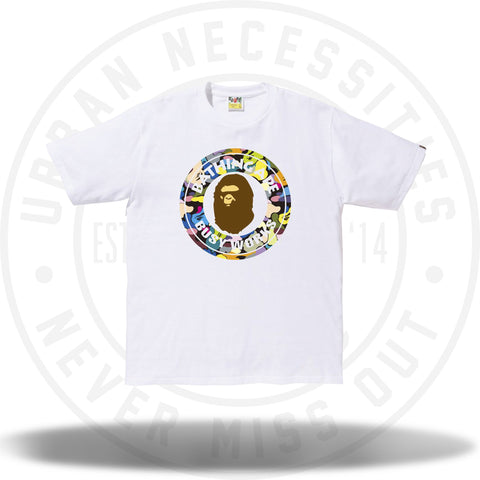 Bape Multi Camo Busy Works Tee White-Urban Necessities