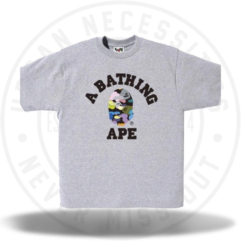 Bape Multi Camo College Tee Grey-Urban Necessities