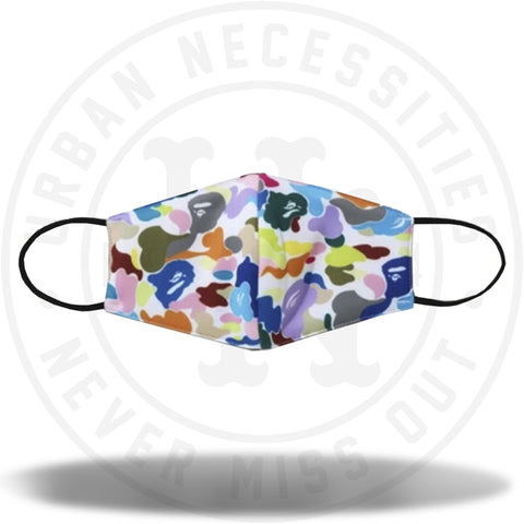 BAPE Multi Camo Facemask White-Urban Necessities