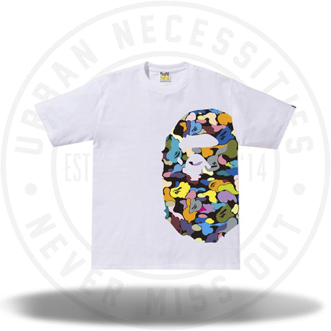 BAPE Multi Camo Side Big Ape Head Tee White-Urban Necessities
