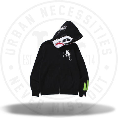 Bape Panda Full Zip Hoodie Black-Urban Necessities