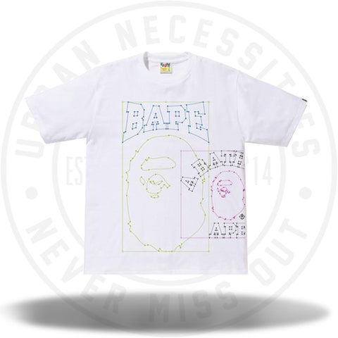 BAPE Paste and Place Tee White-Urban Necessities