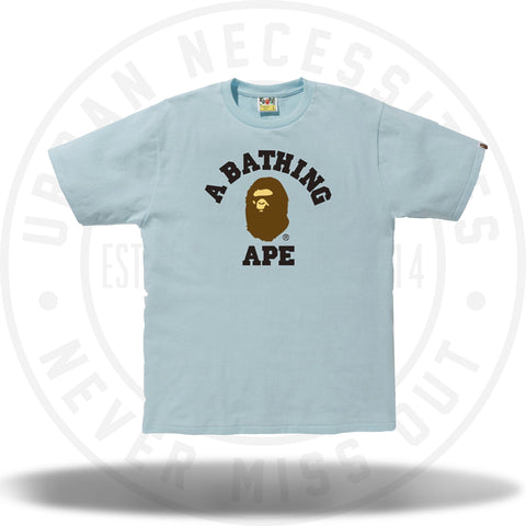 Bape Pigment College Tee Light Blue-Urban Necessities