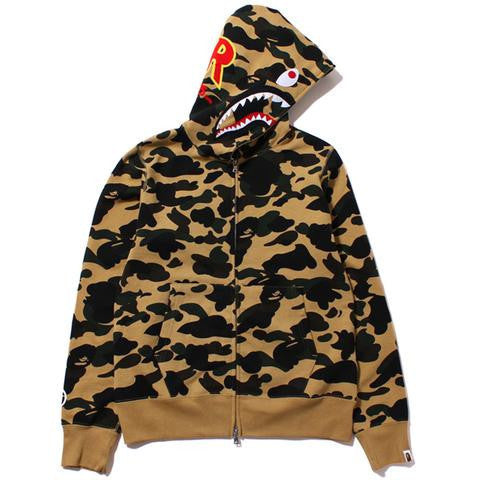 Bape PONR Yellow Camo Shark Hoodie-Urban Necessities