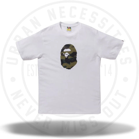BAPE Premium Summer Bag 1st Camo Ape Head Tee White/Green-Urban Necessities