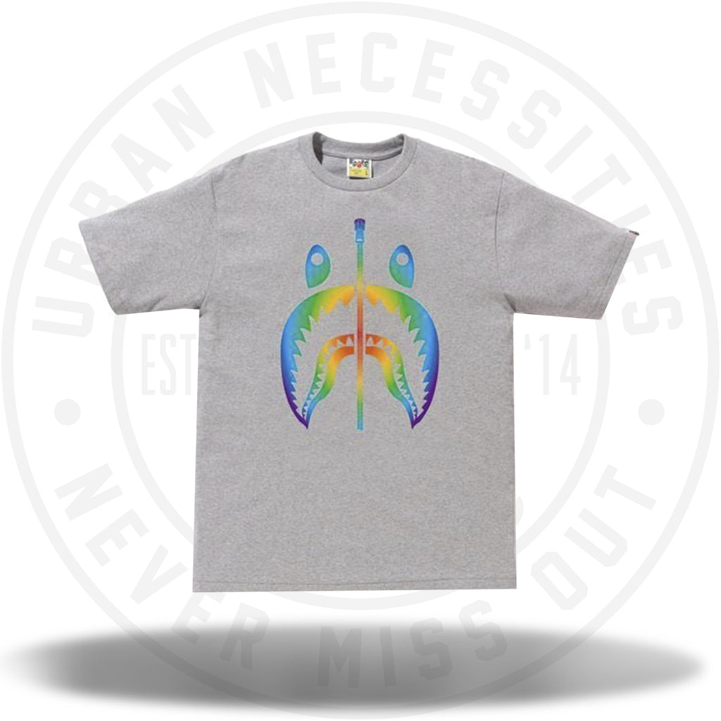 BAPE Rainbow Shark Tee Gray-Urban Necessities