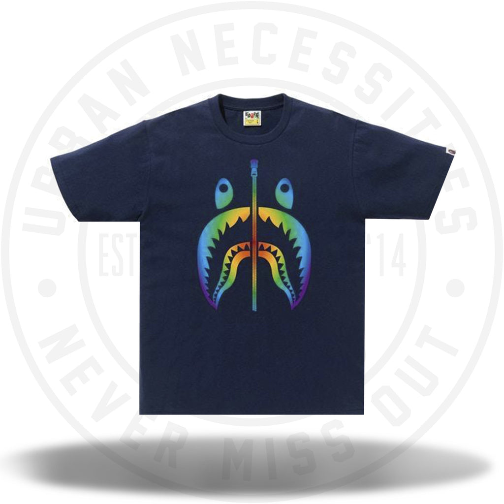 BAPE Rainbow Shark Tee Navy-Urban Necessities