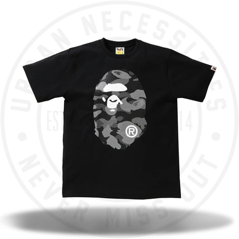 BAPE Reflection Camo Big Ape Head Tee Black/Black-Urban Necessities