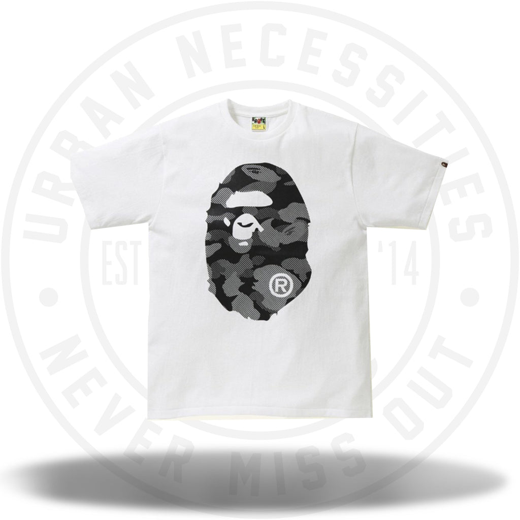 BAPE Reflection Camo Big Ape Head Tee White/Black-Urban Necessities