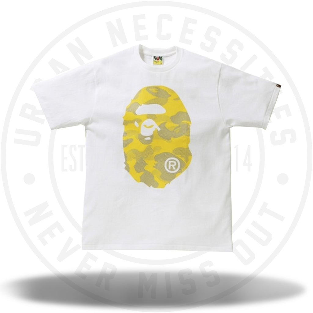 BAPE Reflection Camo Big Ape Head Tee White/Yellow-Urban Necessities