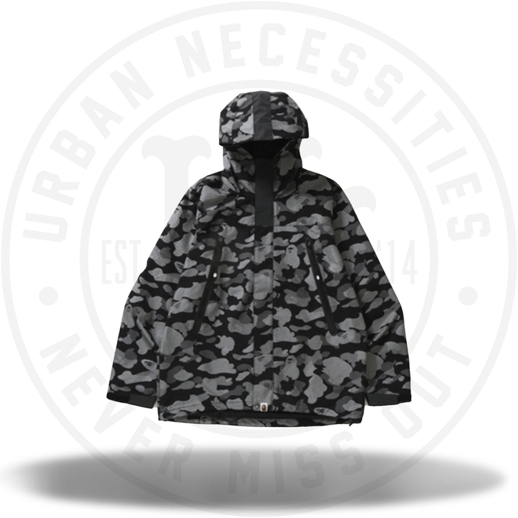 BAPE Reflection Camo Hoodie Jacket Black-Urban Necessities