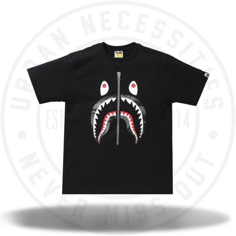 Bape Reflection Camo Shark Tee Black/Black-Urban Necessities