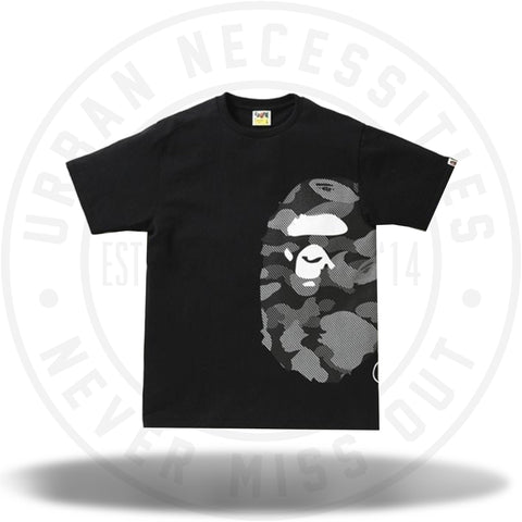 BAPE Reflection Camo Side Big Ape Head Tee Black/Black-Urban Necessities