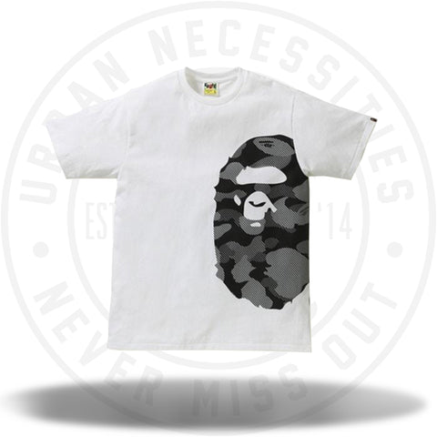 BAPE Reflection Camo Side Big Ape Head Tee White/Black-Urban Necessities