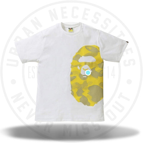 BAPE Reflection Camo Side Big Ape Head Tee White/Yellow-Urban Necessities