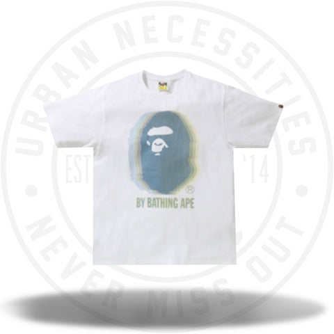 BAPE Reflector Noise by Bathing Tee White/Blue-Urban Necessities