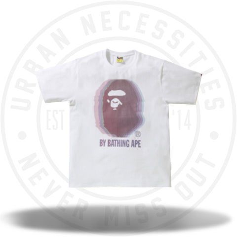BAPE Reflector Noise by Bathing Tee White/Pink-Urban Necessities