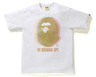 BAPE Reflector Noise by Bathing Tee White/Yellow-Urban Necessities