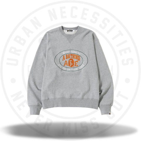 BAPE RELAXED COLLEGE LOGO CREWNECK MENS-Urban Necessities