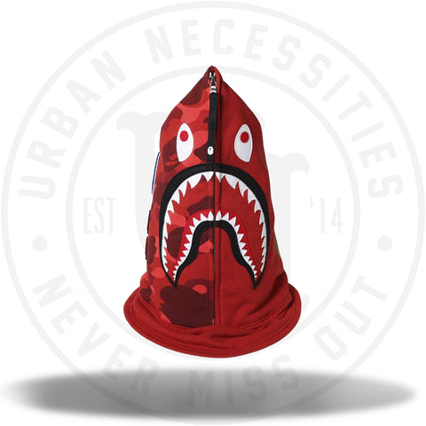Bape Shark Hood Mask Red Camo-Urban Necessities