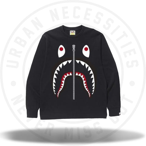 BAPE Shark L/S Tee Black-Urban Necessities