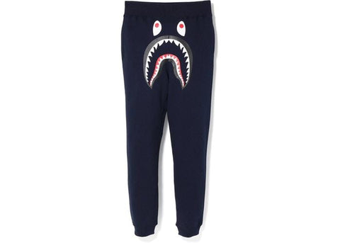 BAPE Shark Slim Sweat Pants Navy/Green-Urban Necessities