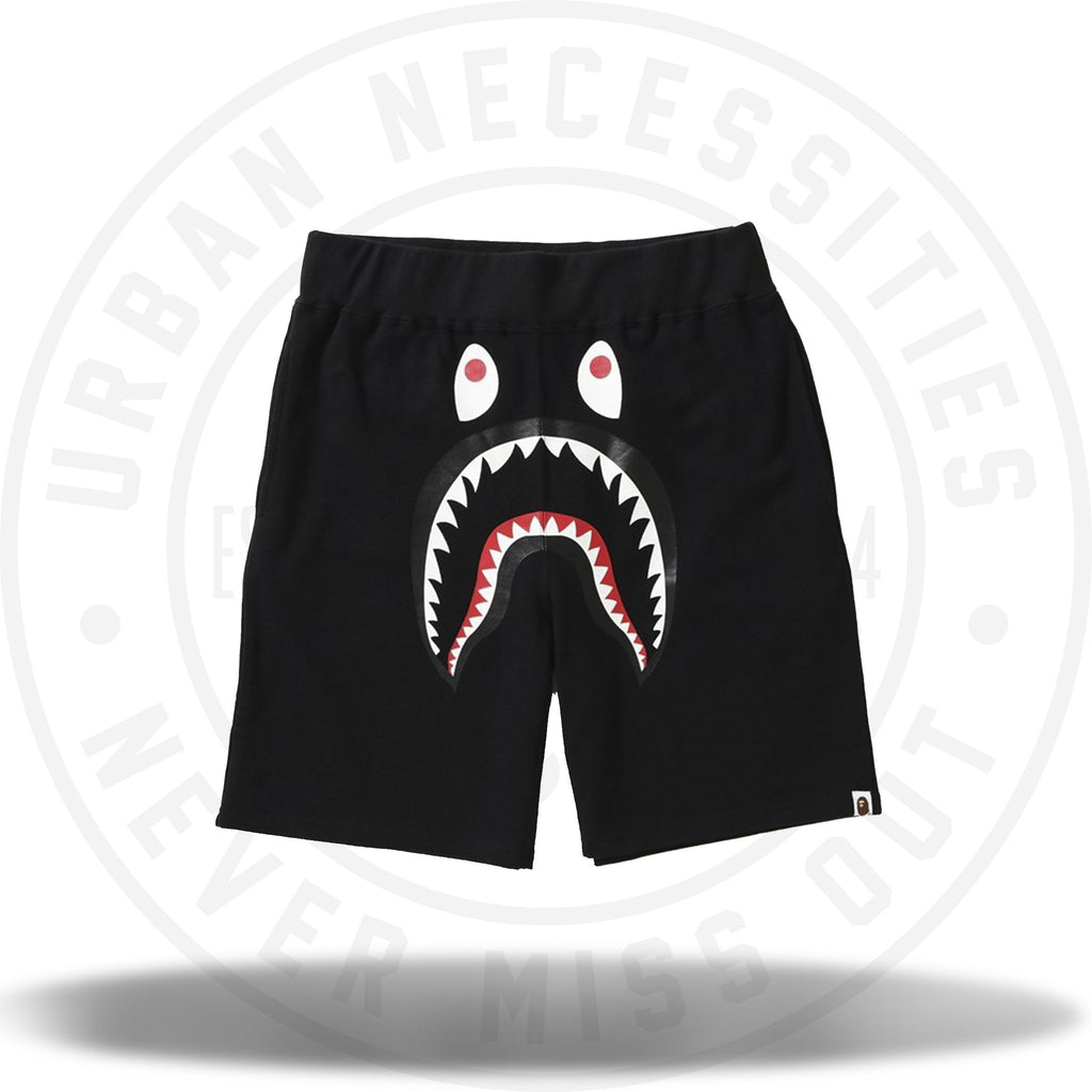 Bape Shark Sweat Shorts Black-Urban Necessities