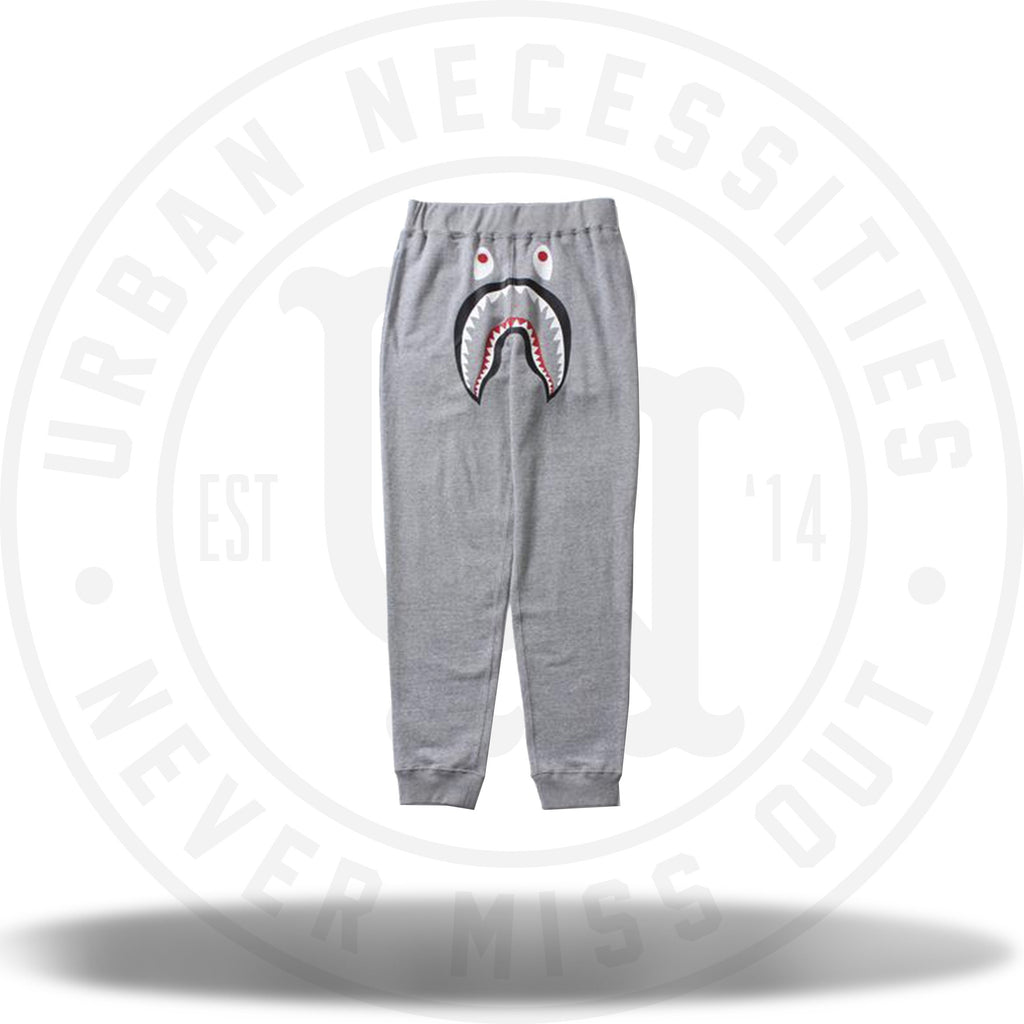 Bape Shark Tapered Easy Pants Grey-Urban Necessities