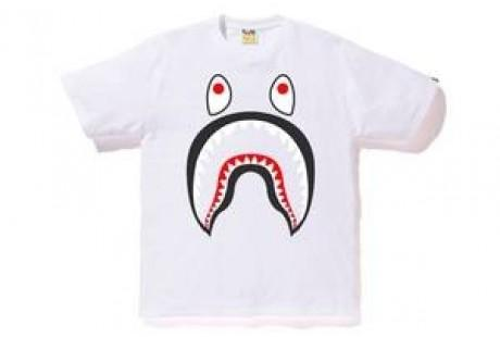 Bape Shark Tee White-Urban Necessities