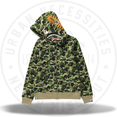 Bape Shark WGM Hoodie ABC Green Camo-Urban Necessities