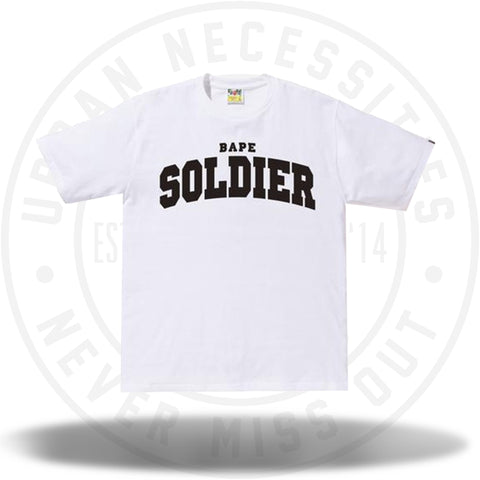 BAPE Soldier Tee White-Urban Necessities