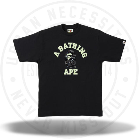 Bape Space Camo College Tee Black-Urban Necessities