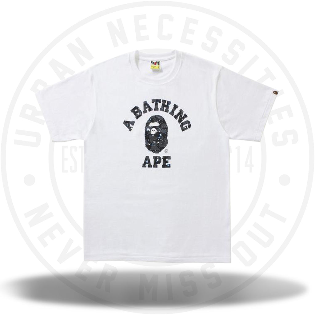 Bape Space Camo College Tee White-Urban Necessities