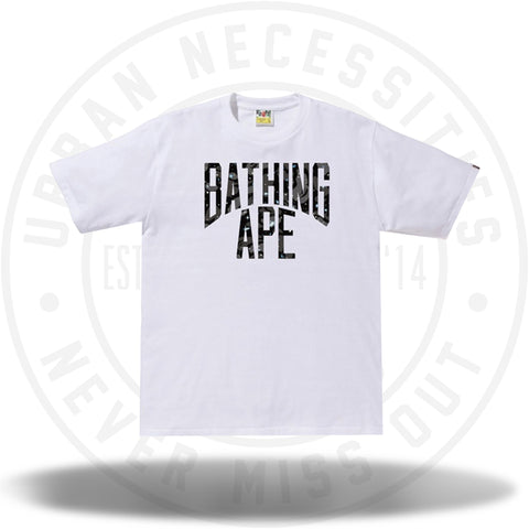 BAPE Space Camo NYC Logo Tee White-Urban Necessities