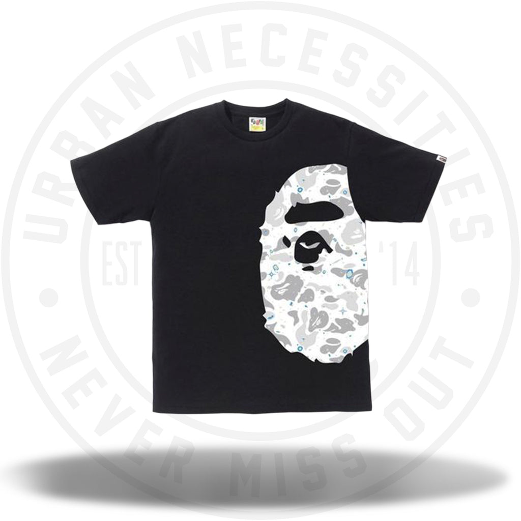 BAPE Space Camo Side Big Ape Head Tee Black-Urban Necessities