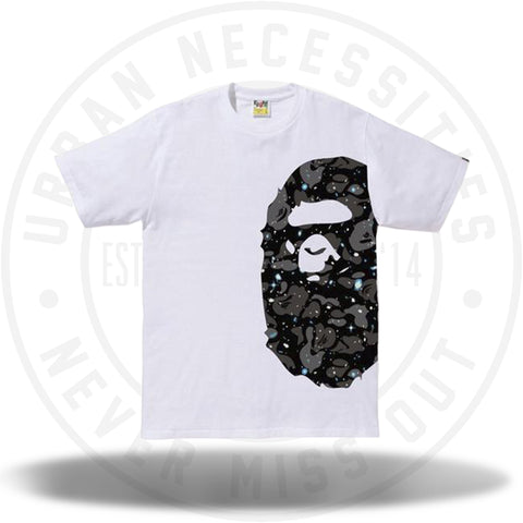 BAPE Space Camo Side Big Ape Head Tee White-Urban Necessities
