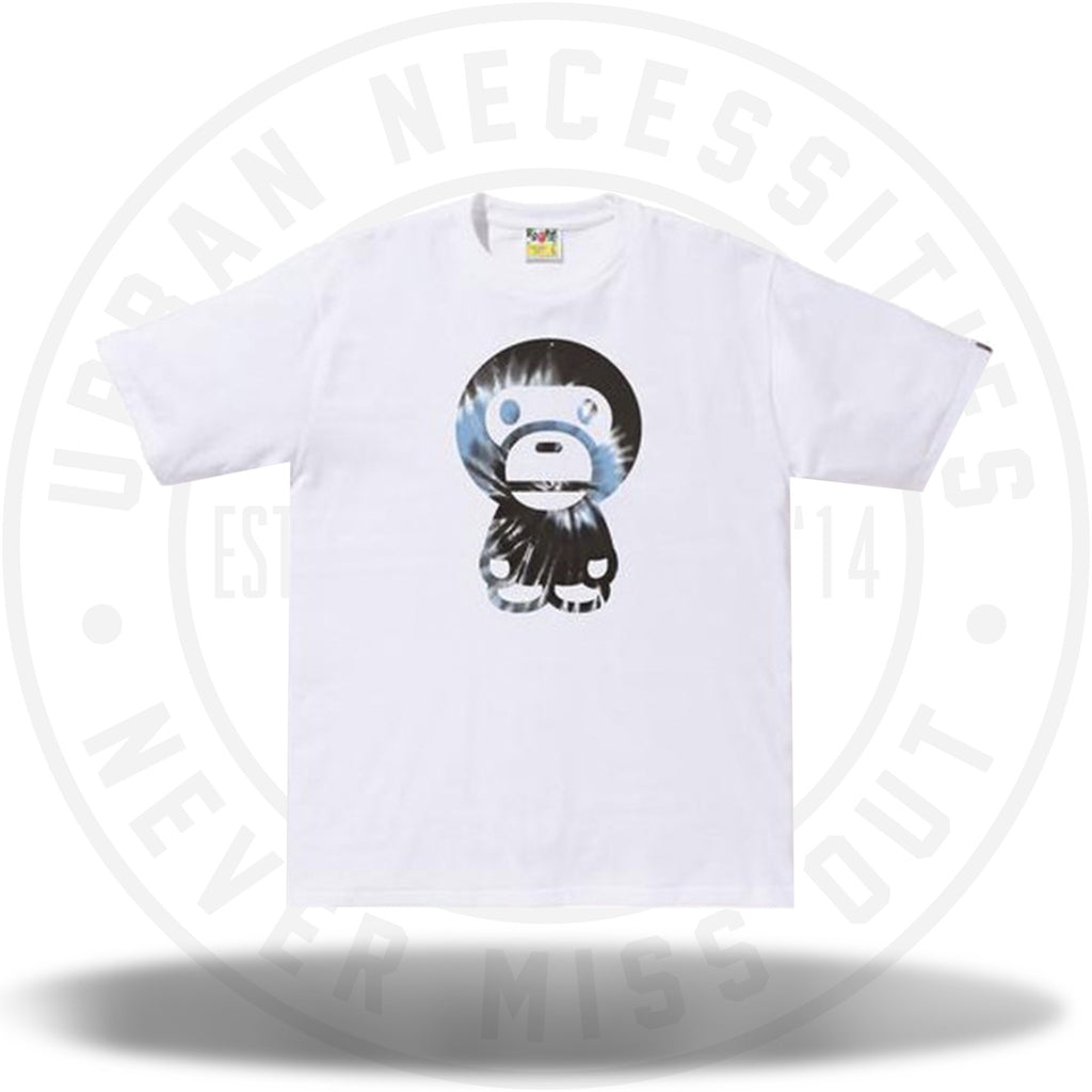 BAPE Tie Dye Big Baby Milo Tee White/Blue-Urban Necessities