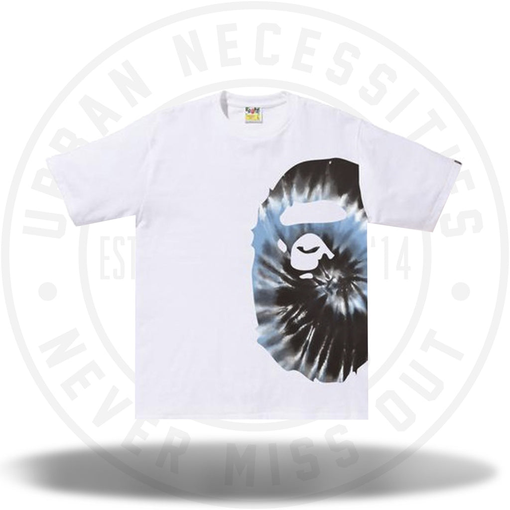 BAPE Tie Dye Side Big Ape Head Tee White/Blue-Urban Necessities