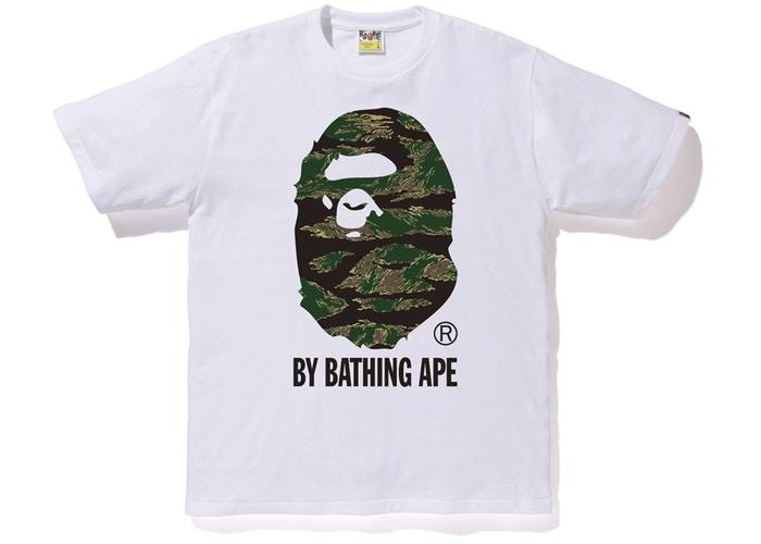 BAPE Tiger Camo By Bathing Tee White-Urban Necessities