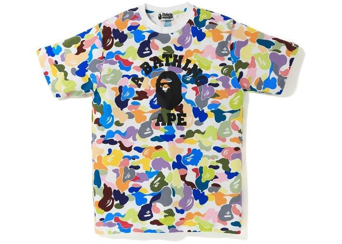 BAPE Ultimate Multi Camo College Tee White-Urban Necessities