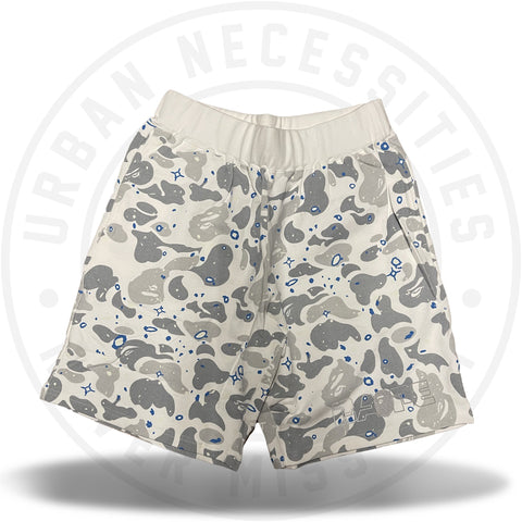 Bape Wide Sweat Short Space Camo White-Urban Necessities