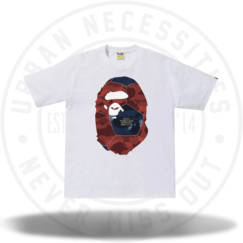 Bape World Cup Ape Head Tee White-Urban Necessities