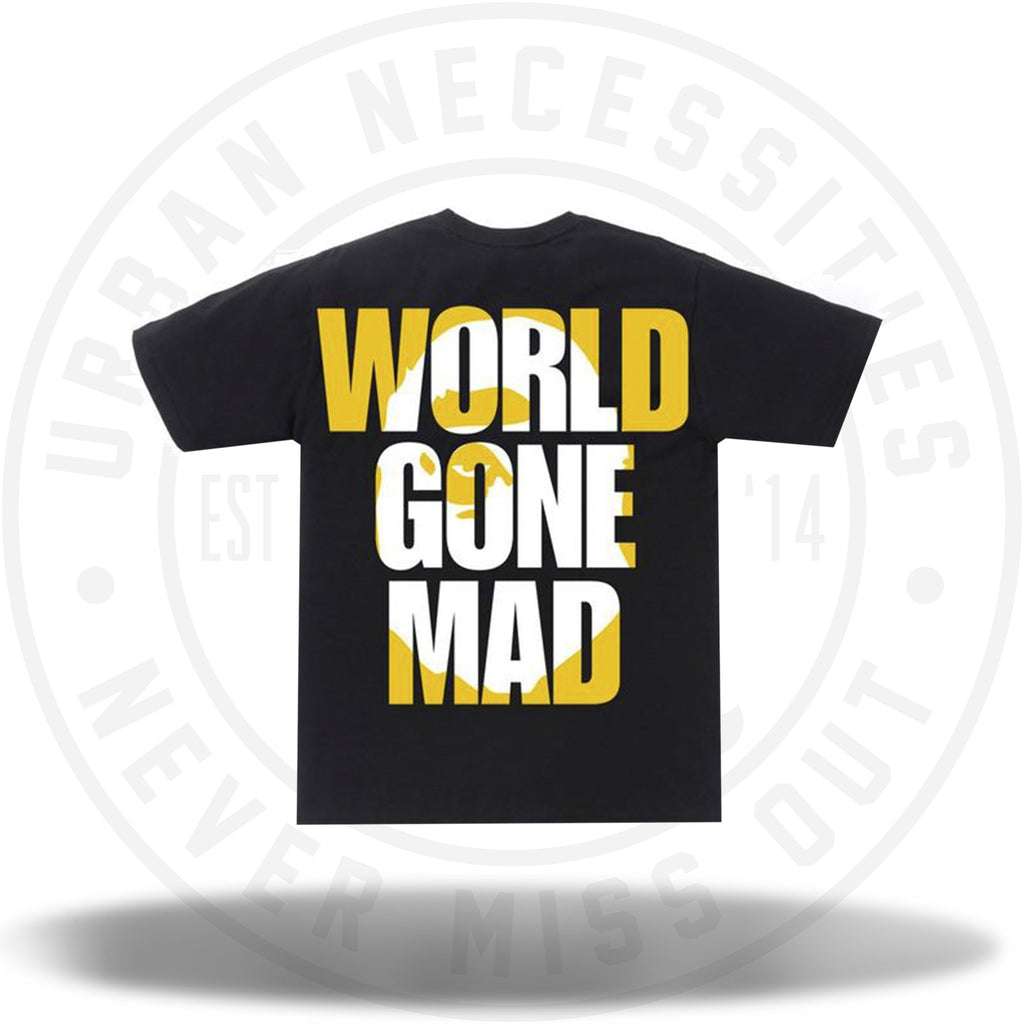 BAPE World Gone Mad Overlap Tee Black-Urban Necessities