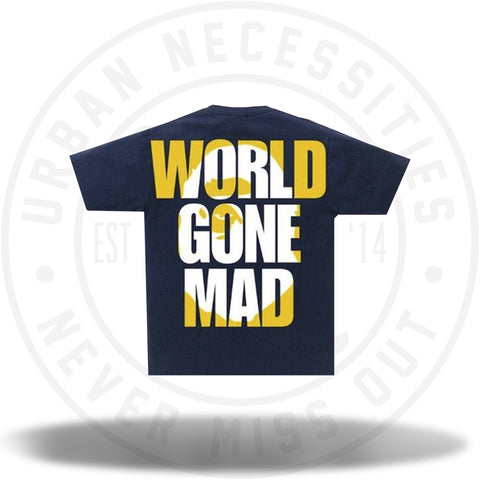 BAPE World Gone Mad Overlap Tee Navy-Urban Necessities