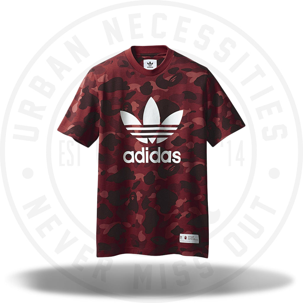 Bape x adidas adicolor Tee Raw Red-Urban Necessities