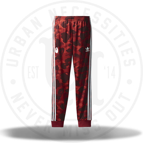 Bape x Adidas Adicolor Track Pants Raw Red-Urban Necessities
