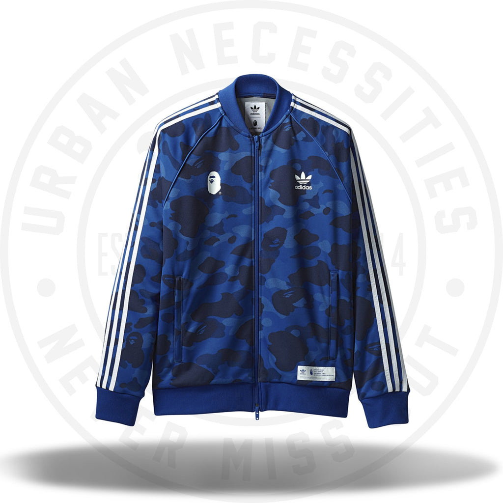 Bape x Adidas Adicolor Track Top Blue-Urban Necessities