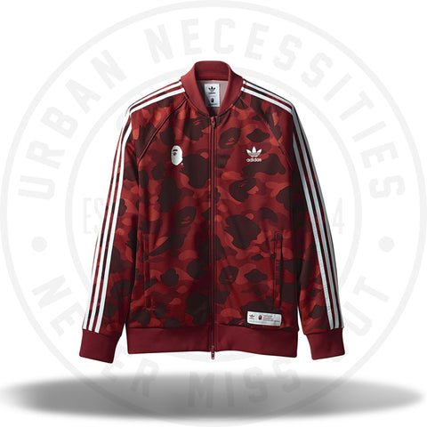 Bape x Adidas Adicolor Track Top Raw Red-Urban Necessities