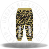 Bape x Champion 1st Camo Sweatpants Yellow Camo-Urban Necessities