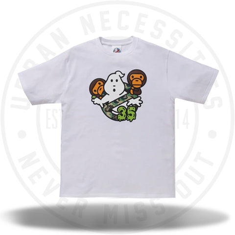 BAPE x Ghostbusters Baby Milo Tee #6 White-Urban Necessities
